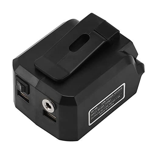 Dcolor Adaptador de BateríA MK18B para 18V BL1815G BL1813G BateríA de Iones de Litio PC TeléFono MóVil Cargador USB Conector de Salida 12V