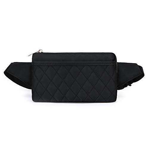 Wind Took Damen Brusttasche Bauchtasche Hüfttasche Handytasche für Party Reise Wanderung Outdoor Alltag Anti-Diebstahl, Schwarz, 21 x 8 x 12 cm, Klein