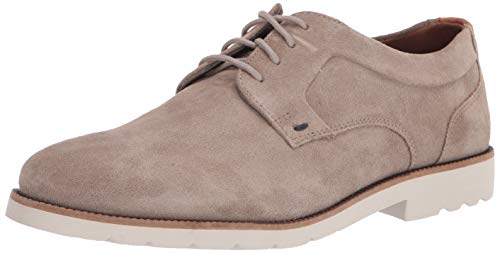 Rockport Men's Sharp and Ready 2 Plain Toe Oxford, Sand Suede