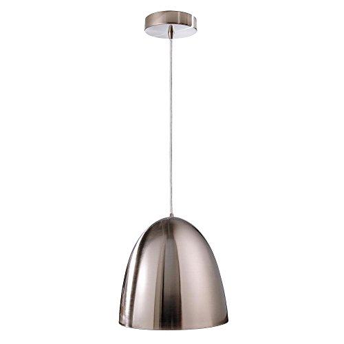 Lampe suspension BELL, 100 W, E27, 220–240 V, IP20, argent satiné