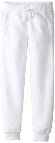 Southpole Boys' Big Active Basic Jogger Fleece Pants, White, Small / 8