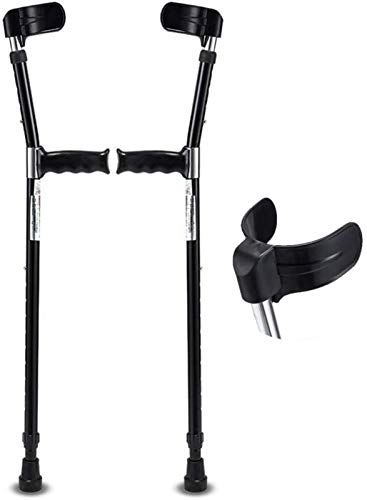 Walking Support Crutch, Ergonomic Handle,Forearm Crutches (1 Pair), Ergonomic Aluminum Alloy Crutches, Lightweight And Easy To Carry Elbow Crutches, Adjustable In 10 Steps, Suitable For Various Height