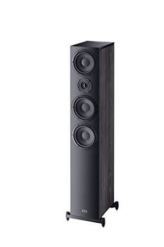 Heco Aurora 700, 3-Wege Standlautsprecher, HiFi-Lautsprecher, Lautsprecherbox für Musik und Heimkino, 1 Stück, Farbe:Schwarz