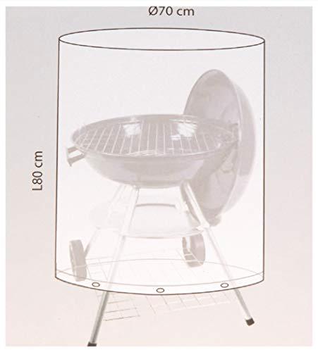 Unbekannt Gris ronde Cercle Grande BBQ Housse étanche d'extérieur Protection de barbecue grill 80 x 70 cm
