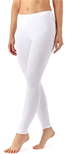 Merry Style Leggins Largos Mallas Deportivas Mujer MS10-143 (Blanco, XL)