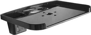 Logger Set Top Box Stand with 2 Remote Holder (Black) Plastic Wall Shelf (Number of Shelves - 1, Black)
