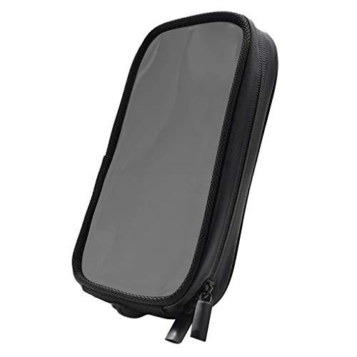 Sharplace Soporte Magnético de La Caja del Teléfono del Tanque del Metal de La Motocicleta con El Agujero del Auricular Negro