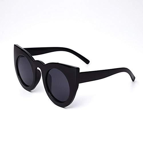 FJCY Gafas de Sol de Ojo de Gato a la Moda Gafas de Sol para Mujer Gafas de Sol Redondas de Estilo Veraniego Retro para mujer-Bj5148-C1