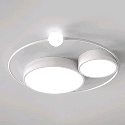 CUILINGWAN Redondo Nórdico Moderno Minimalista Personalidad creativa Iluminación LED Instalación empotrada Ajuste de luz de tres colores Lámparas de techo Sala de estar Dormitorio Estudio Herramientas