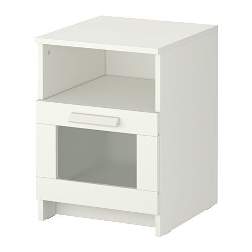Ikea BRIMNES Mesita de Noche, Blanco - 39x41 cm
