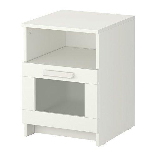 Ikea BRIMNES - Bedside Table White - 39x41 cm