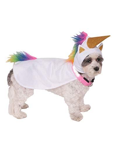 Horror-Shop Light Up Einhorn Hunde-Kostüm mit leuchtendem Hunde-Halsband L