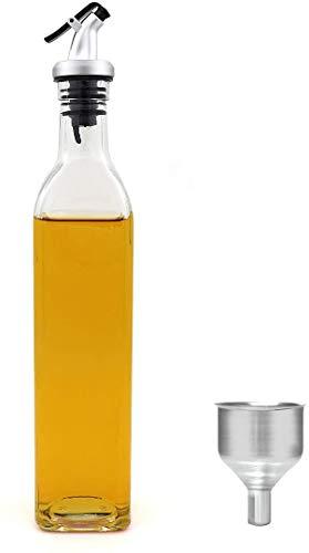 Bottiglia per olio di oliva – 500 ml di olio da cucina e aceto Cruet No Drip