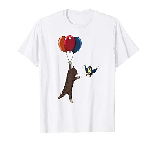 Lustige Katze mit Luftballon Comic