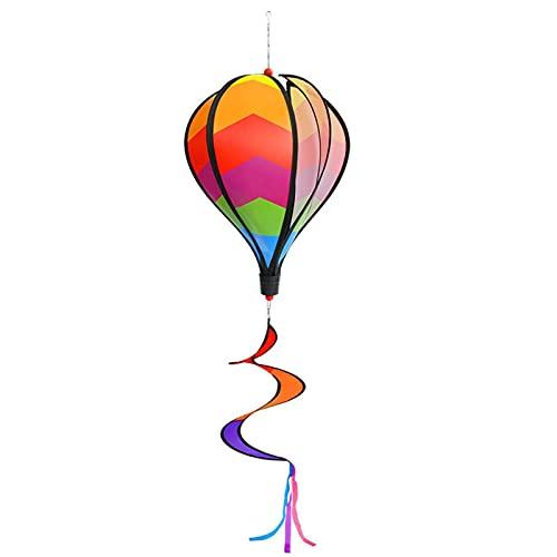Bunte attraktive Heißluftballon Twist Garten Windspinner für Outdoor Dekoration 11 '' Durchmesser 43 '' lang