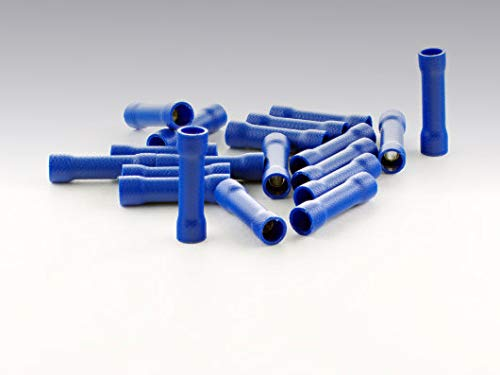 Stossverbinder isoliert blau 100x Stoßverbinder 1,5-2,5 mm vollisoliert Crimpzange Quetschverbinder Kabelverbinder Crimp Zange Verbinder Kabelschuhe KFZ robElCo