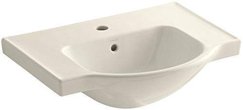 KOHLER K-5248-1-47 Veer Single-Hole Sink Basin, 24-Inch, Almond