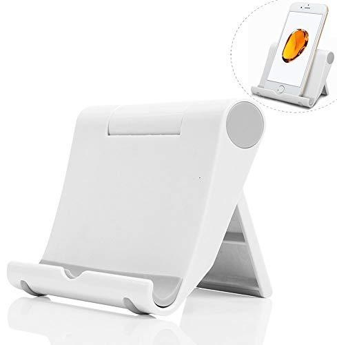 Dosige Soporte Móvil télefono, Soporte Multiángulo Ajustable para iPad Tabletas iPhone X/8 Plus/7/6 Plus/6s/6/SE Galaxy Samsung y Android Smartphone(Blanco)