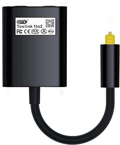Optical Splitter 1 in 2 Out Toslink Splitter Audio Optical Cable...