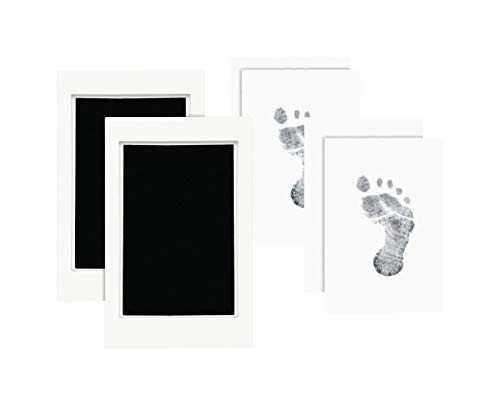 "Pearhead Newborn Baby Handprint or Footprint ""Clean-Touch"" Ink Pad Set of Two, Black"