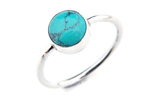 Anello argento 925 con turchese (No: MRI 78), dimensioni anello:62 mm/Ø 19.7 mm
