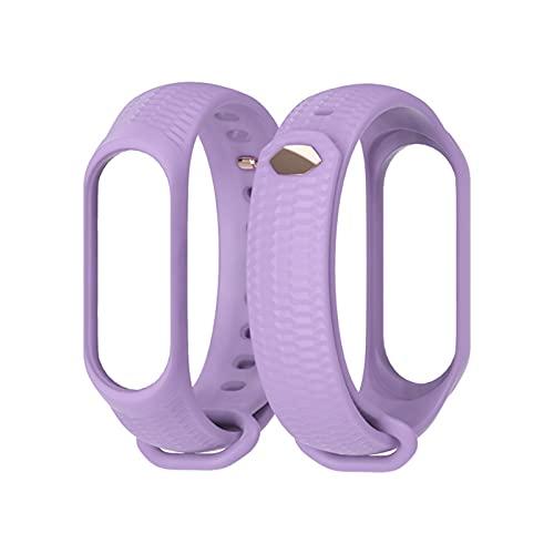 MI BAND 3/4 Strap Silicone Muñeca Correa Accesorios Accesorios Smart Muñequeras (Color : Purple, Size : For xiao mi 3)