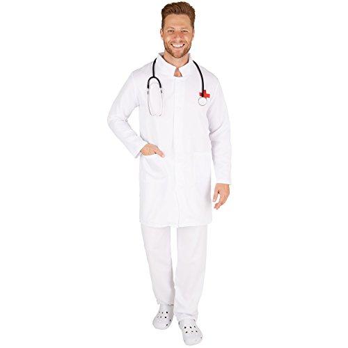 TecTake dressforfun Herrenkostüm Doktor | Knielanger Mantel | Strapazierfähige Hose (L | Nr. 301446)