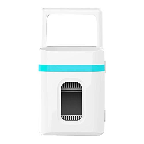 Mini Frigo Silenzioso 2 in 1 da Campeggio più Piccolo per Camere Frigo Auto Minibar 12V con Funzione di Raffreddamento E Riscaldamento per Auto, Mini Frigo per Bevande,Blu