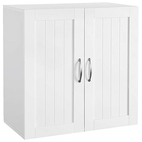 Topeakmart Home Kitchen/Bathroom/Laundry 2 Door 1 Wall Mount Cabinet, White, 23in x 23in