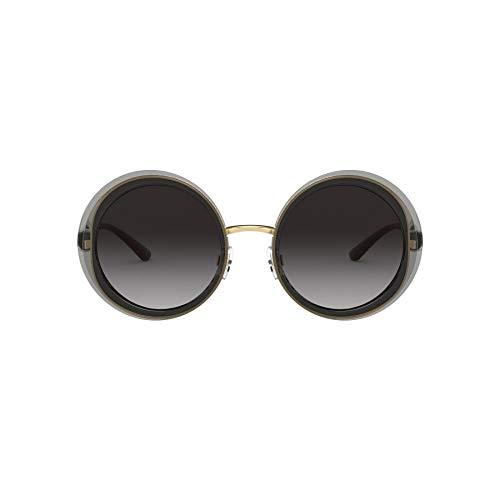 Dolce & Gabbana Damen 0DG6127 Sonnenbrille, TRANSPARENT Grey/Gold, 52