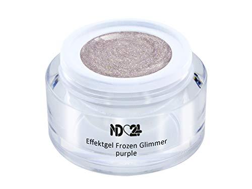 Uv Led Effekt-Gel Frozen Glimmer Purple - Lila - Studio Qualität - Made In Germany - 5ml