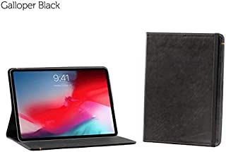 Oxford Leather case Compatible with iPad Pro 12.9 3rd Gen (Black)
