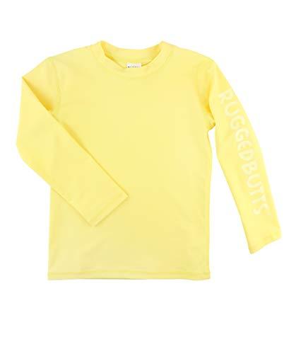 RuggedButts Baby/Toddler Boys Lemon Long Sleeve Logo Rash Guard - 12-18m