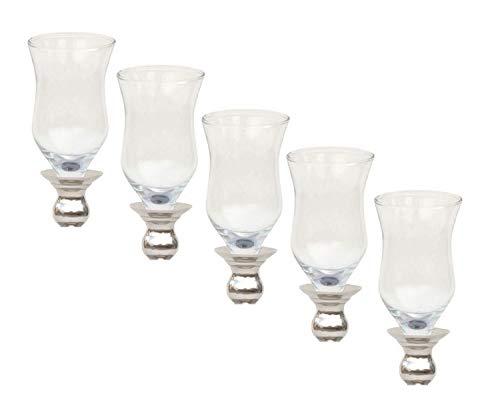 5x Glasaufsatz für Kerzenständer Teelichthalter Windlicht Aufsatz