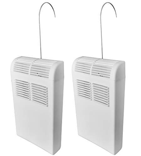 Luftbefeuchter für Heizung Set inkl. Haken - 450ml - Kunststoff Stoßfest - Diffusor- Wasserverdunster Verdampfer Verdunster Heizkörper Luftreiniger inkl. Anhänger - 2 Stück