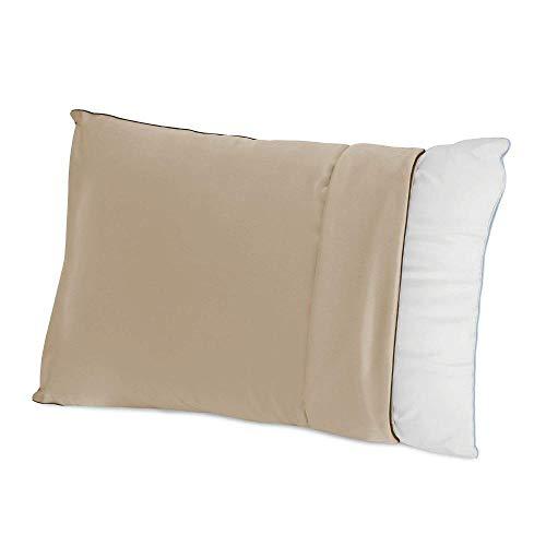 FLXXIE Juego de 2 fundas de almohada de satén con cremallera, suave y lujoso