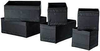 Ikea Skubb Drawer Storage Organizer's Black (12 Pack)