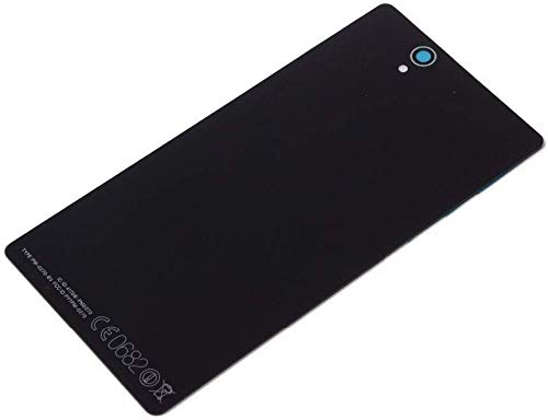 OEM Battery Back Door Glass Panel Cover for Sony Xperia Z C6602 C6603 (Black)
