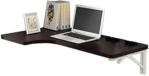 Soporte Portátil Escritorio Montado en la Pared Drop-Hoja Plegable Multifunción Computadora Escritorio Esquina Esquina Escritorio Super Carga Rodamiento (Color : Black, Size : 120x60x40cm)