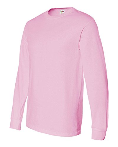 Fruit of the Loom Adult 5 oz. Long-Sleeve T-Shirt, Classic Pink, 2X