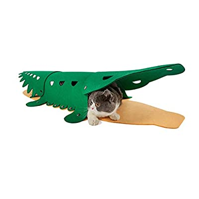 Amazon - 75% Off on Cat Toy Tunnel Crocodile Tunnels for Small Pets Kittens, Ferrets, Puppy…