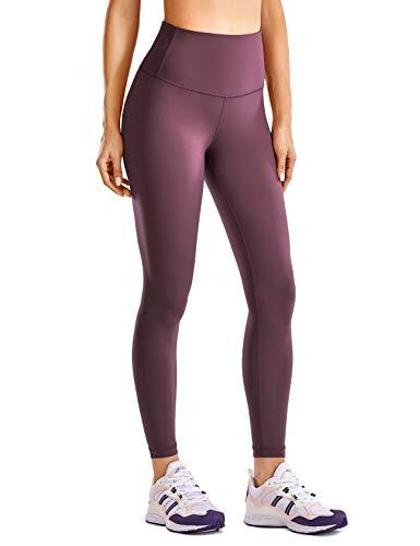 CRZ YOGA High Waist Yoga Tights for Women Workout Leggings Compression Leggings Luxury Naked Feeling - 25 Inches Arctic Plum Medium