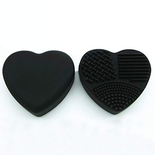 1 Piece Silicone Makeup Brush Cleaning Makeup Brushes Cleaner Heart Glove Cosmetic Brush Cleaning Mat Portable Washing Tools