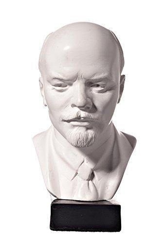 Sowjetischer Russischer Chef Wladimir Lenin Marmor Büste Statue Skulptur 13 cm weiß
