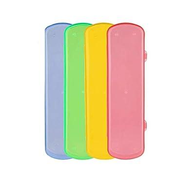 5PCS Travel Use Plastic Toothpaste Toothbrush Case Holder Box Container Organizer Colour Random