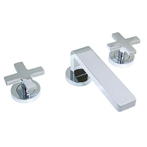 Speakman SB-2723 Vector Sink Double Cross Handles, Widespread Bathroom Faucet, Polished Chrome