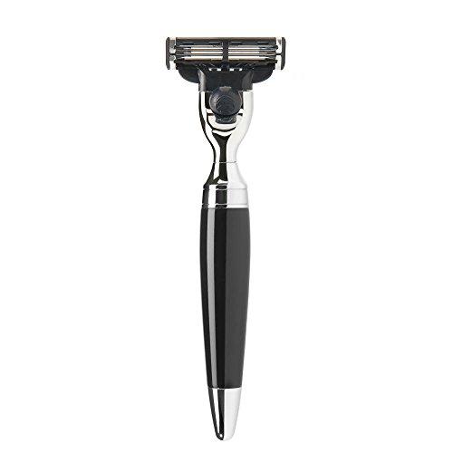 MÜHLE - Nassrasierer - STYLO Serie - kompatibel mit Gillette® Mach3® - Edelharz schwarz