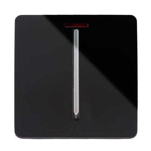 Trendi artistico moderno lucido 45a fornello tattile interruttore luce e inserto nero neon art-whs2bk