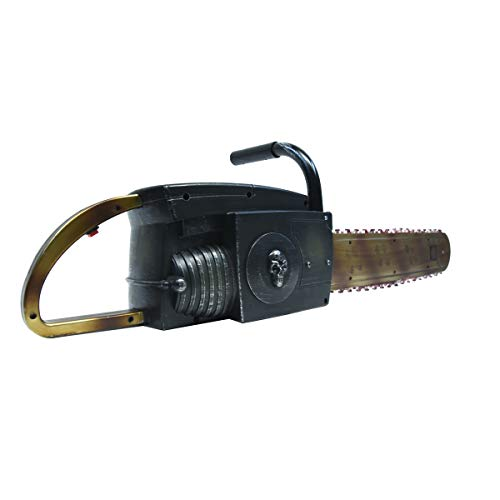 TG,LLC Treasure Gurus Fake Bloody Chainsaw w/Sound Effects Animated Haunted House Prop Halloween Decor Costume Accessory