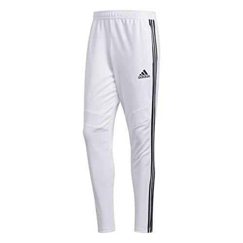 adidas Tiro 19 - Pantaloni da Allenamento da Uomo, Uomo, Pantaloni, S1906GHTAN105, Bianco/Nero, M
